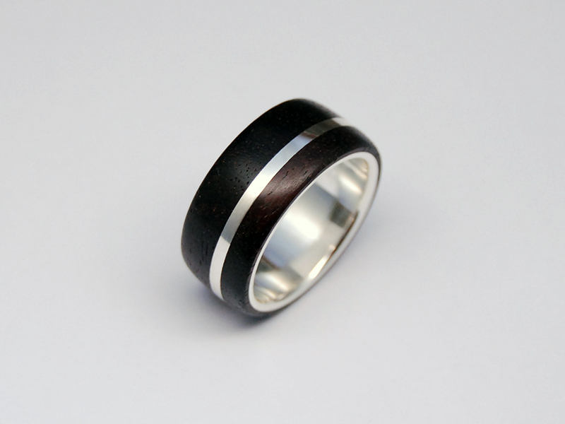 ORDERMADE WOOD×SILVER RING2