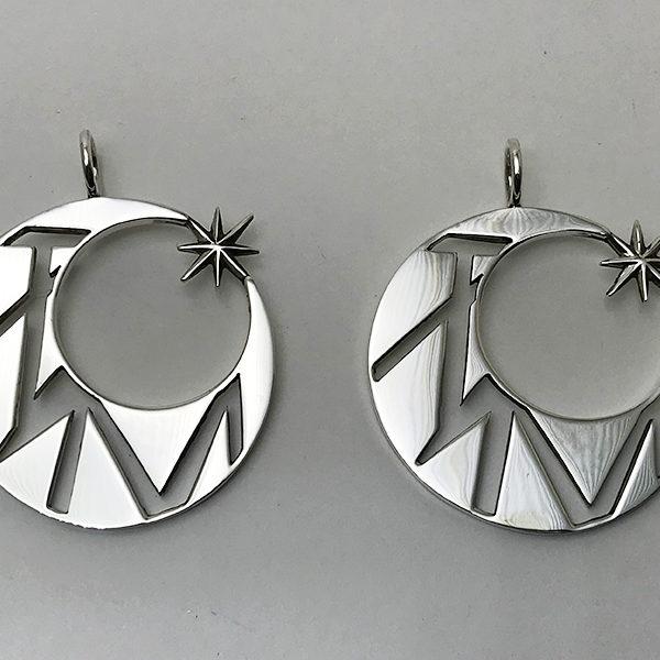 SV925 sun&moon PAIR PENDANTTOP
