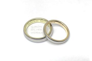 プラチナと18金のオーダーメイド結婚指輪