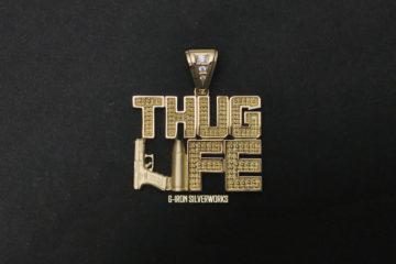 オーダーメイド14金THUG LIFEトップ