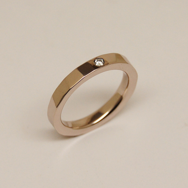 K10BROWNGOLD RING