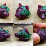 ordermade steampunk wolf PendantTop1_5