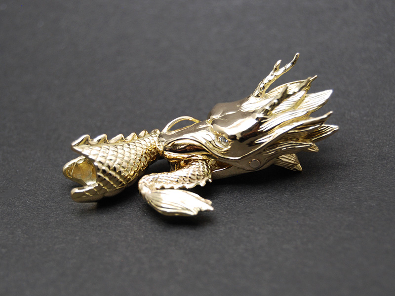 オーダーメイド 18金 龍のブレスレット