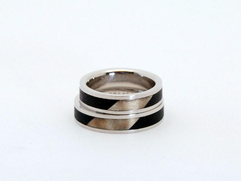 ORDERMADE Marriage rings PT900×WOOD1_2