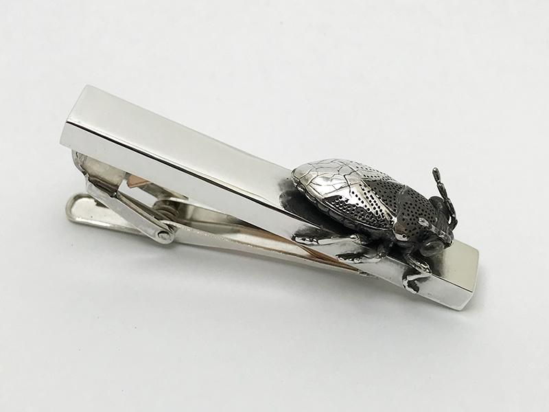オーダーメイドネクタイピン(シルバー製カメムシ)3