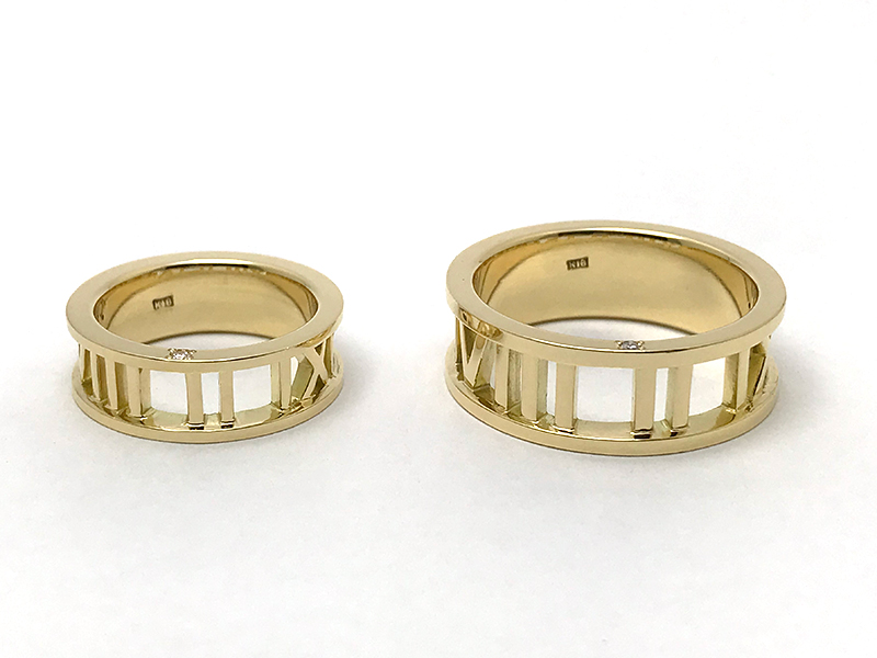 K18YG Ordermade Pair Rings