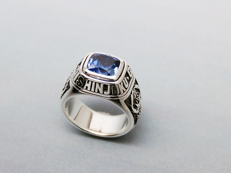 ORDERMADE College RING/SV925 sapphire