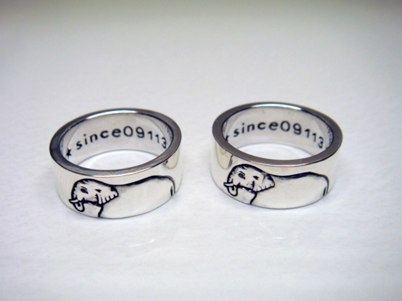 ELEPHANT PAIR RING