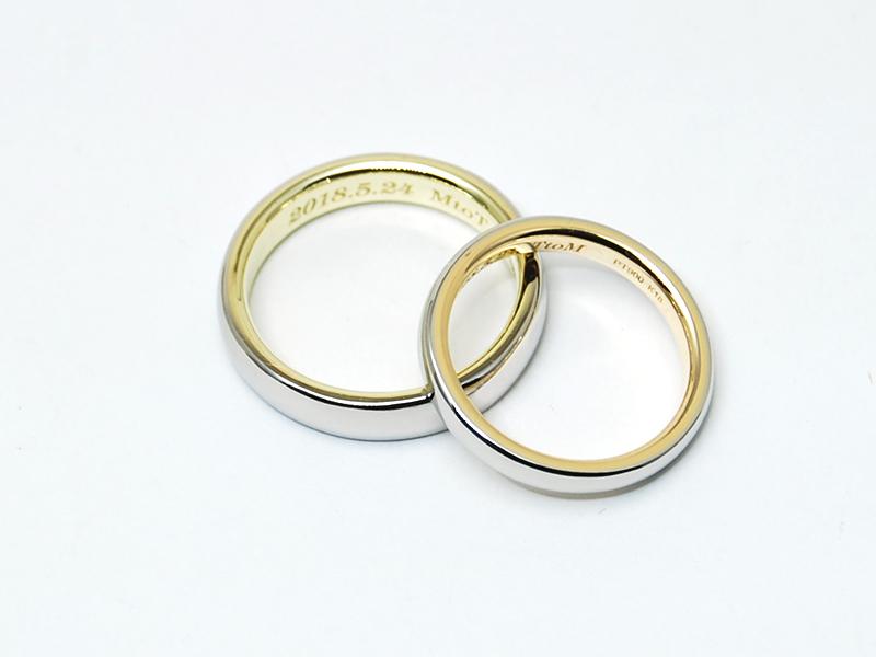 プラチナと18金のオーダーメイド結婚指輪3
