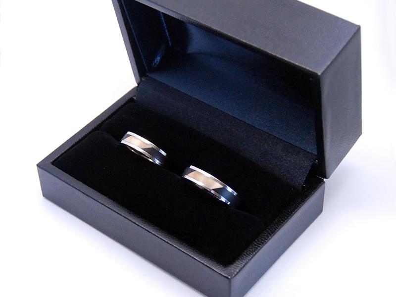 ORDERMADE Marriage rings PT900×WOOD1_4