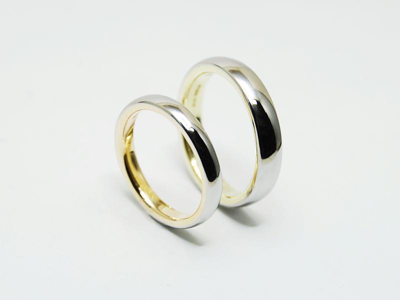 プラチナと18金のオーダーメイド結婚指輪4