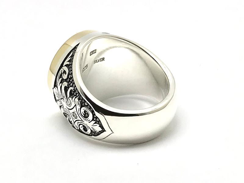 K18&SV925 Ordermade Signet ring