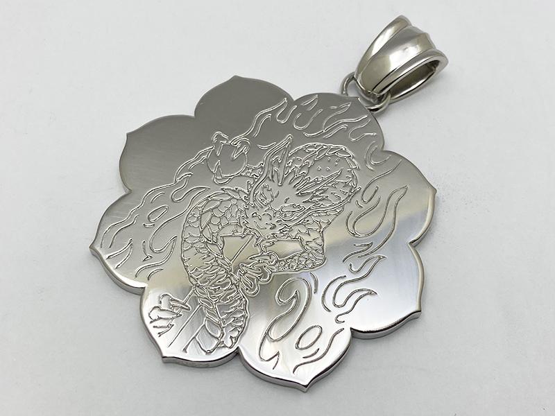 オーダーメイド Pt900 仏字 蓮座トップ