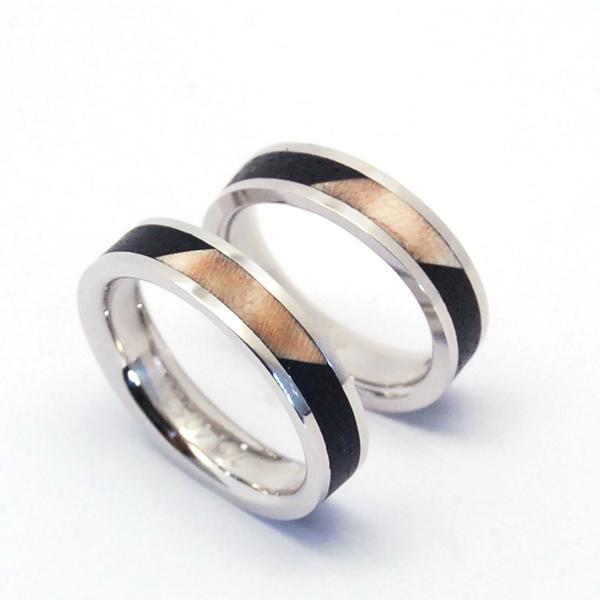 PT900 & WOOD WEDDING RING
