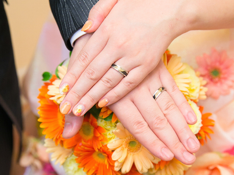 ORDERMADE Marriage rings PT900×WOOD1_5