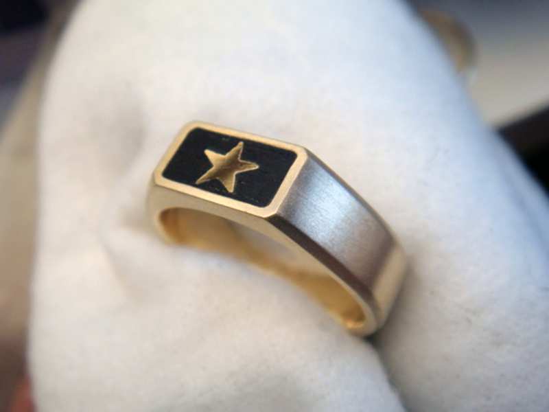 ORDERMADE WOOD×GOLD RING1