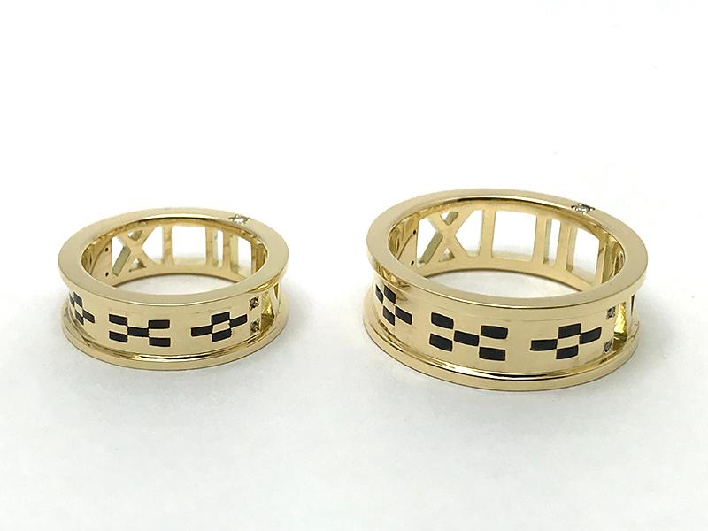 K18YG Ordermade Pair Rings