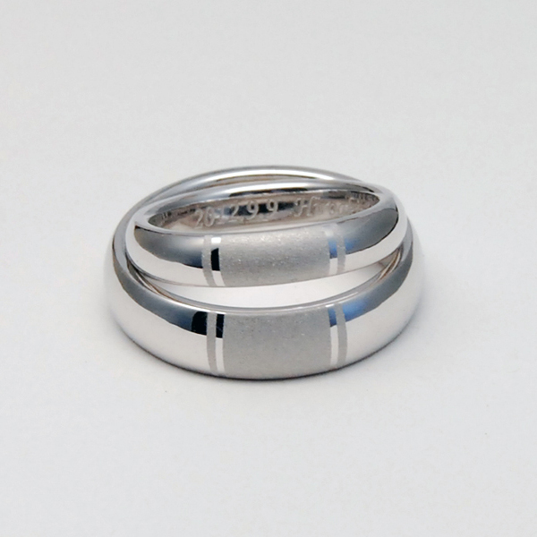K18 WHITEGOLD WEDDING RING