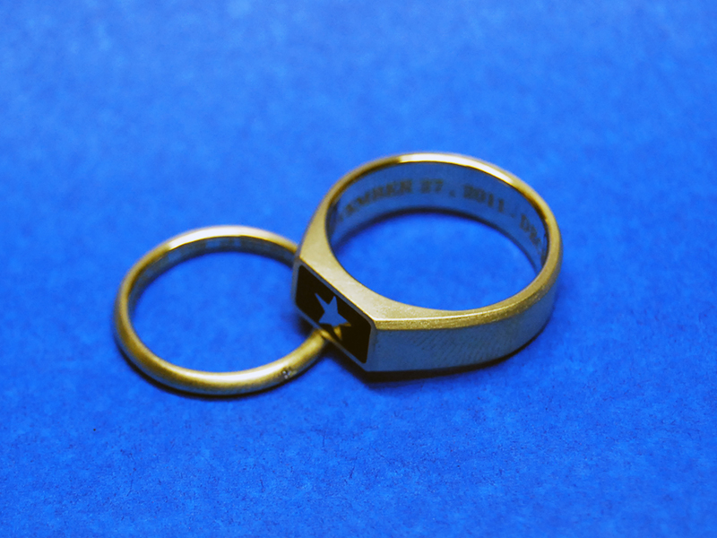 ORDERMADE K18YG PAIR RING1