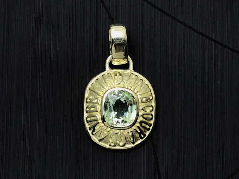 オーダーメイド 18金グリーンゴールド ペンダントトップ