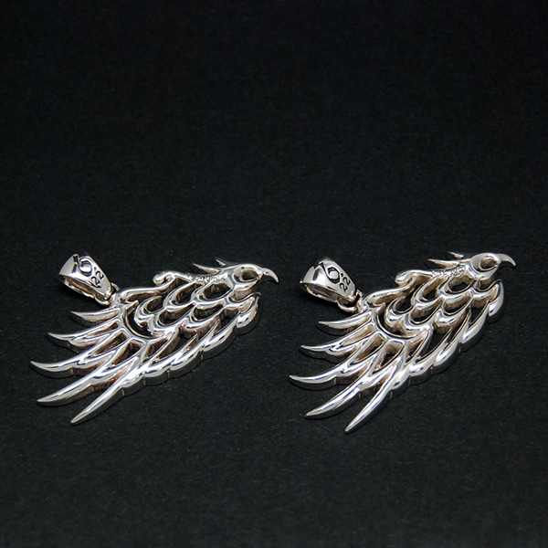 SV925 PAIR WING PENDANT TOP