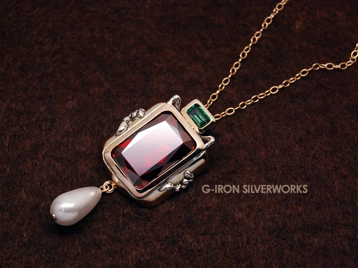 ORDERMADE K10YG PENDANT / Swarovski Crystal