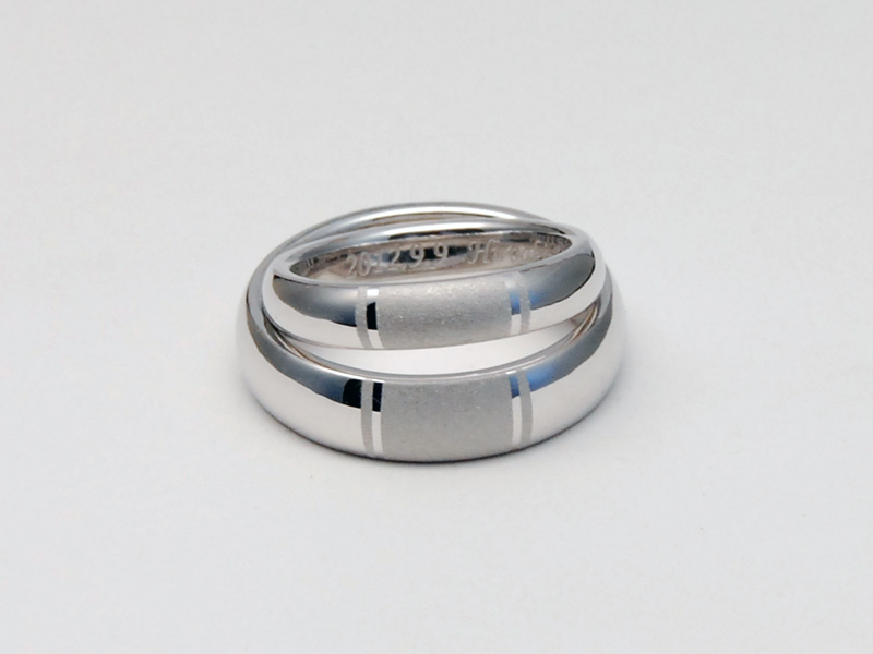 ORDERMADE K18WG MARRIAGE RING