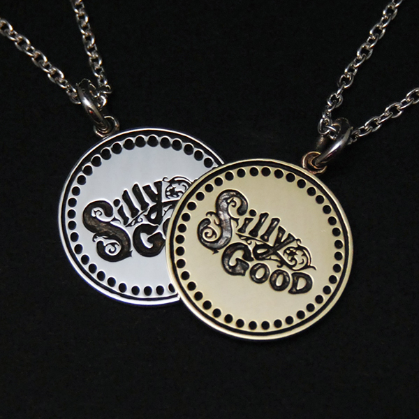 SV925 & BRASS SILLY GOOD PENDANT TOP