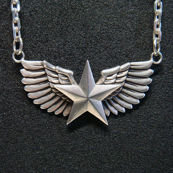 SV925 WING & STAR PENDANT TOP