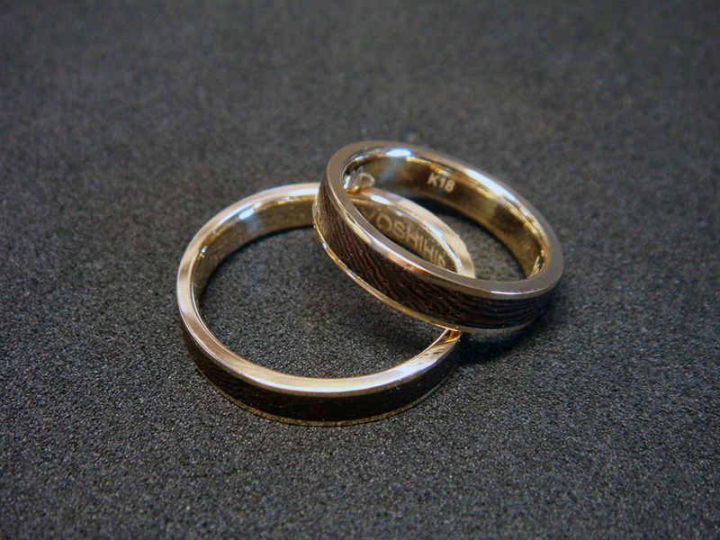 ORDERMADE WOOD×GOLD RING2