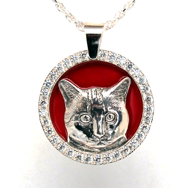 SV925 CAT PENDANT TOP