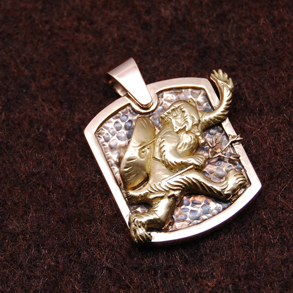 K18&K10 MONKEY PENDANT TOP