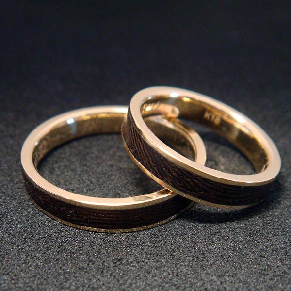 K18 & WOOD WEDDING RING